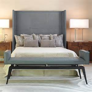 faux bois grey leather headboard modern headboards