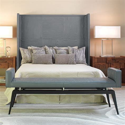 Modern Headboards by Faux Bois Grey Leather Headboard Modern Headboards