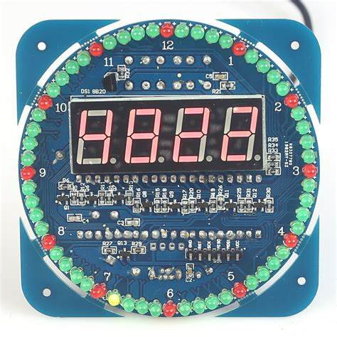 compact  digit timer diy kit diy digital rotation led