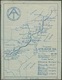 appalachian trail map rauner special collections library hike the appalachian trail