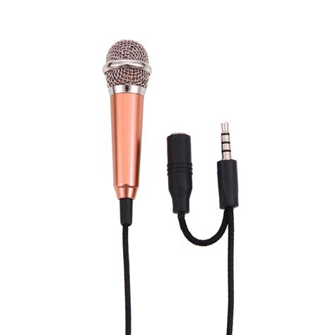 Mini Microphone For Android Ios Untuk Karaoke 1pc mini mic portable microphone stereo karaoke sound record 3 5mm for iphone android all
