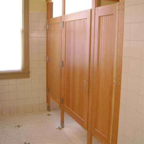 bathroom stall door hardware hand crafted commercial bathroom stall doors by lacey door millwork custommade com