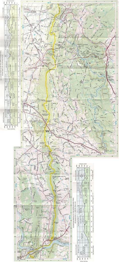 Appalachian Trail Section Maps by Maryland Section Of The Appalachian Trail Jessietracker
