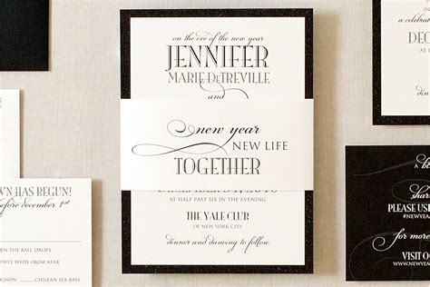 new wedding invitations new years formal wedding invitations gourmet invitations