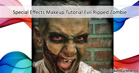 tutorial zombie grime special effects makeup tutorial evil ripped zombie