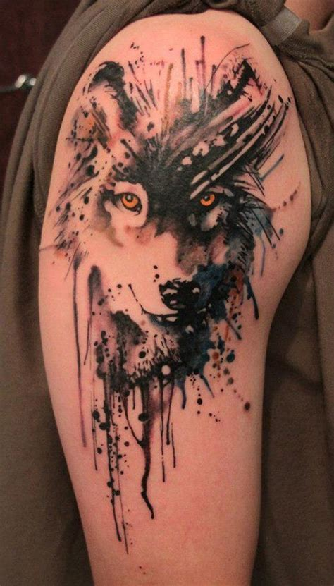 animal tattoo upper arm wolf tattoos for men ideas and inspiration for guys
