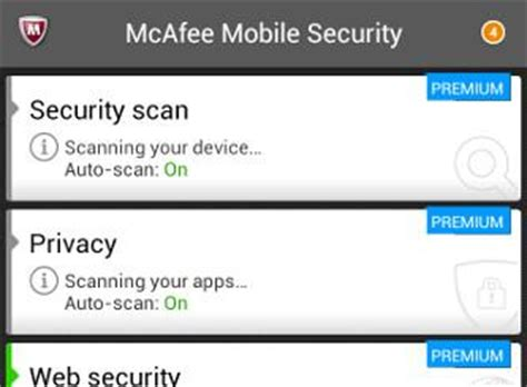 mcafee for android mcafee antivirus security 3 1 premium for android review rating pcmag