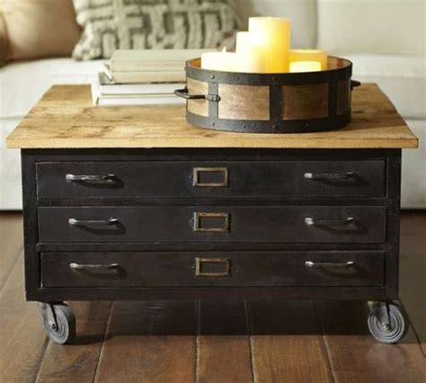 Flat File Coffee Table Cole Steel Flat File Coffee Table Industrial Steel Cabinets Pinterest