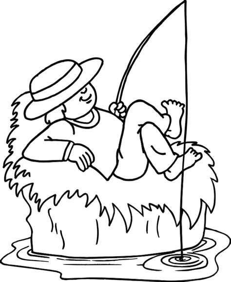 fishing coloring pages fishing pole coloring page clipart best