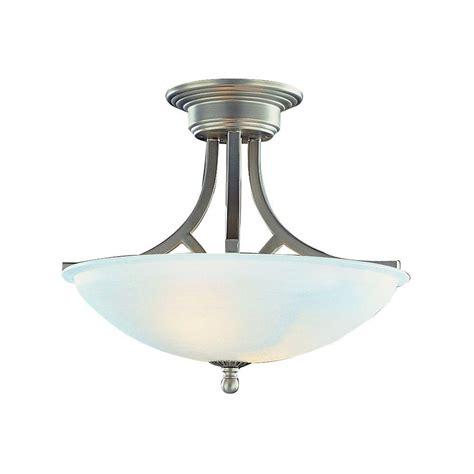 Bel Air Lighting Cabernet Collection 2 Light Brushed Semi Flush Mount Ceiling Light Brushed Nickel