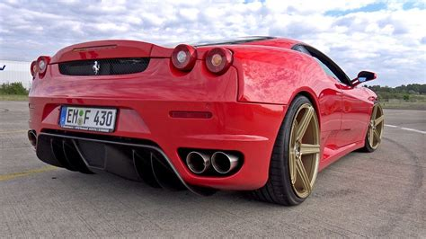Ferrari W F1 by Ferrari F430 F1 W Straight Pipes Hms Exhaust Youtube