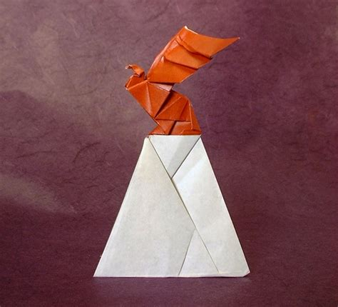Origami Hawk - origami birds of prey gilad s origami page