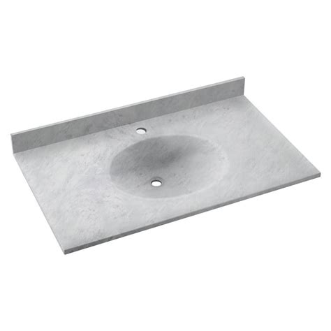 Solid Surface Vanity Top With Sink swan ellipse 37 in w x 22 in d solid surface vanity top