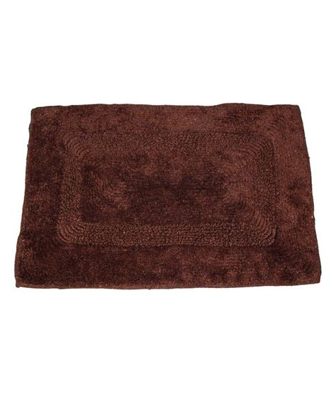 ritika carpets brown plain cotton door mat buy ritika
