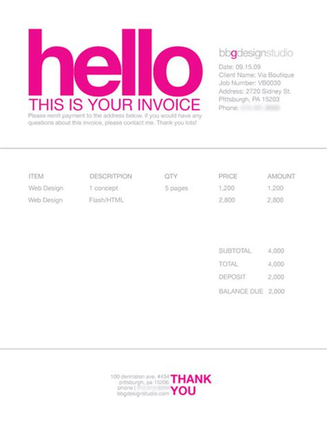 design invoice template invoice like a pro exles and best practices smashing