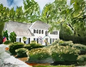 watercolor paintings art by derek mccrea house