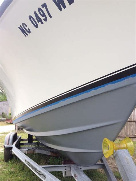 boat bottom painting wilmington nc new bottom paint system wilmington nc before after