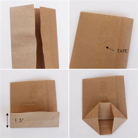 Paper Bag Folding - diy mini paper sacks from large paper sacks lavender