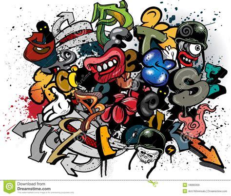 graffiti elements royalty  stock images image