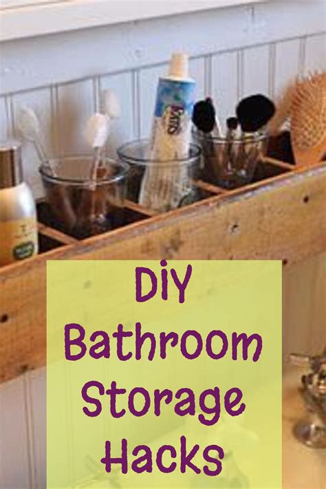 diy small bathroom storage diy bathroom storage and organization hacks involvery