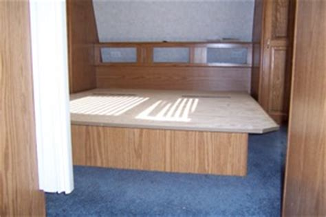 Rv Bed Frame We Remodeled Our Rv Bed To Improve Rv Interior Storage