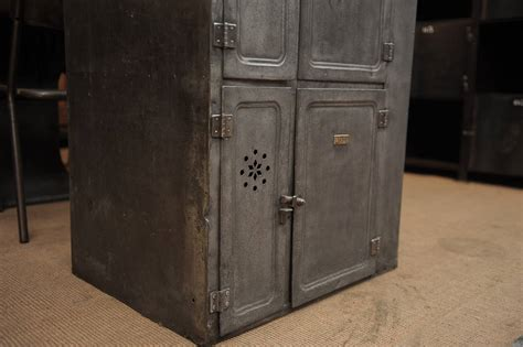 Industrial Storage Cabinets With Doors Vintage Iron Boat Six Doors Industrial Cabinet Circa 1910 At 1stdibs