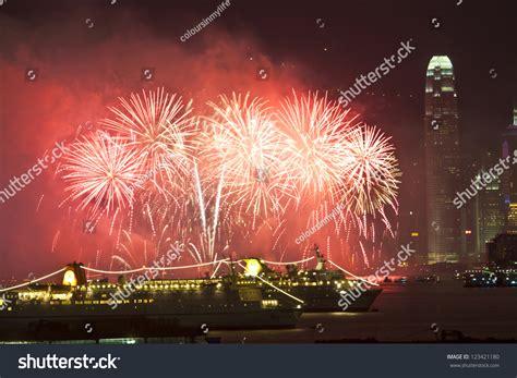 lunar new year in hong kong hong kong jan 24 lunar new year fireworks along