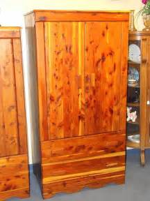genuine solid cedar armoire wardrobe closet with