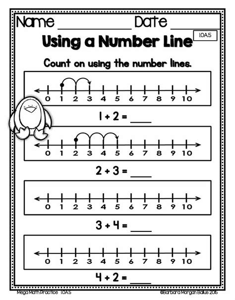 printable number line grade 1 number line practice worksheets for first grade blank