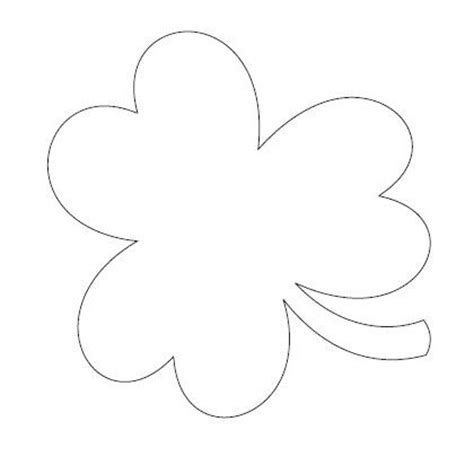 printable shamrock template shamrock pattern template for st s day printable