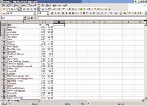 Open Spreadsheet by Open Office Spreadsheet