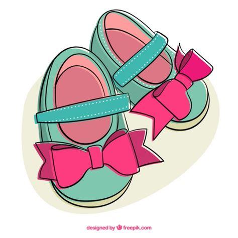 imagenes animadas zapatos ilustraci 243 n de zapatos lindos de ni 241 a descargar vectores