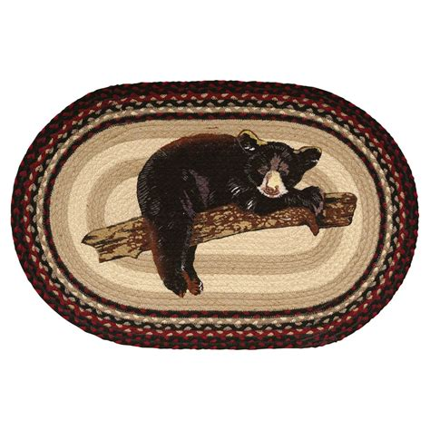 rugs with bears rugs cub braided rug black forest decor