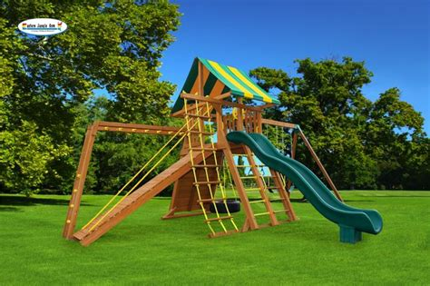wooden swing set with tire swing extreme 3 backyard playset jungle gym