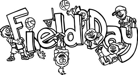 100 Days Of School Field Day Coloring Page Coloring Page Day Of School Coloring Page