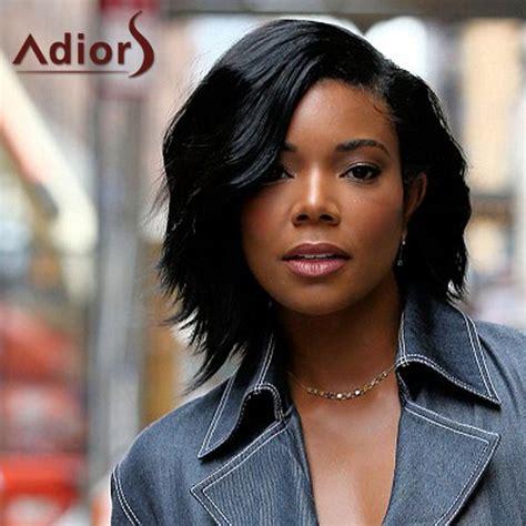 wigs for black women basic wear or beautiful stylish fashion wholesale stylish black side bang synthetic fluffy medium