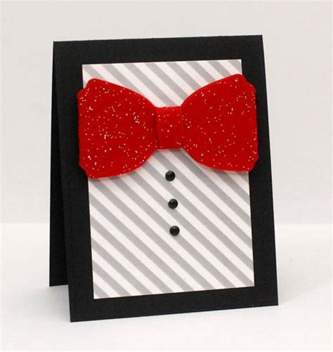 Bow Tie Card Template by Card Dapper Bow Tie Card
