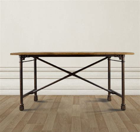 architect desk table 72 quot steel legs on casters