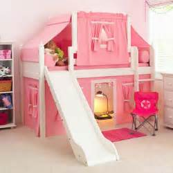 maxtrix playhouse loft bed with tent and slide