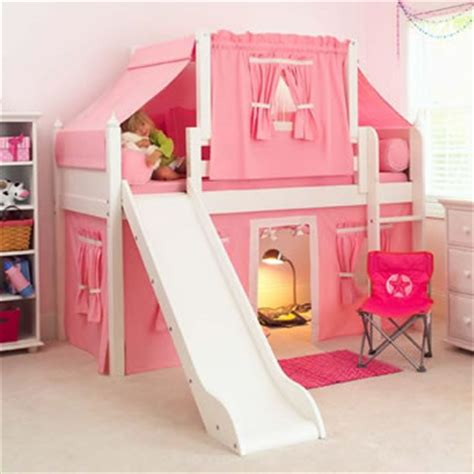 Bunk Beds With Tents And Slides Maxtrix Playhouse Loft Bed With Tent And Slide