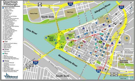 Cartes de Pittsburgh   Cartes typographiques détaillées de
