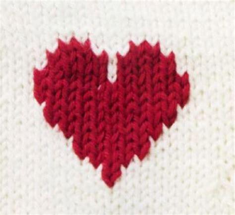 knitting pattern with heart motif colorwork heart motif knitting bee