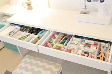 How To Organize Drawers For Every Room Of The House Craft Desk Organization Ideas