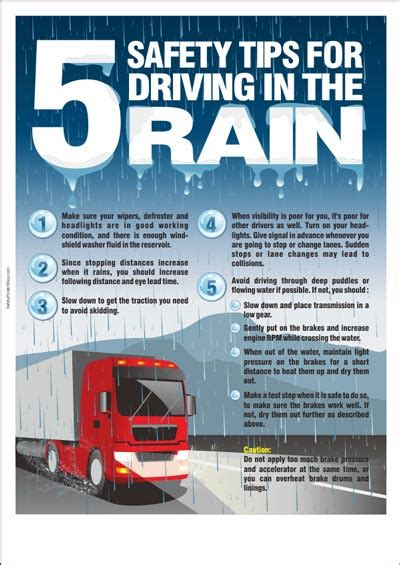road safety poster 5 safety tips for driving in the rain safety poster shop