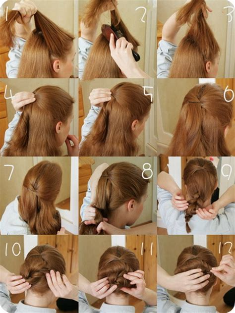 step by step easy updos for thin hair easy hairstyles for short hair step by step haircuts
