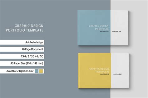 Graphic Design Portfolio Template Brochure Templates Creative Market Graphic Template