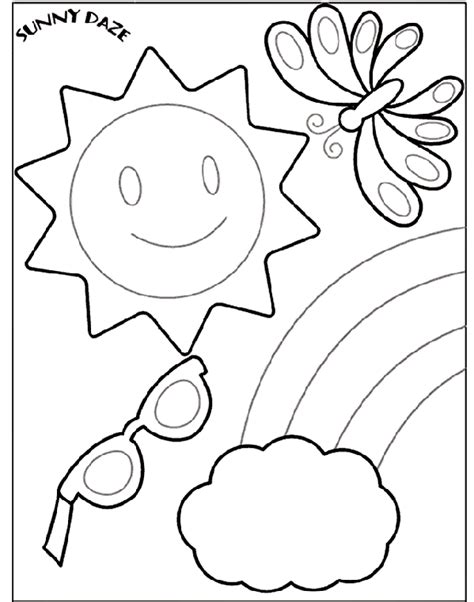 sunny weather coloring page sunny day coloring coloring coloring pages