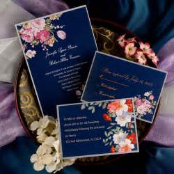 navy blue and green wedding invitations peony navy blue printable vintage wedding invitations ewi137 as low as 0 94