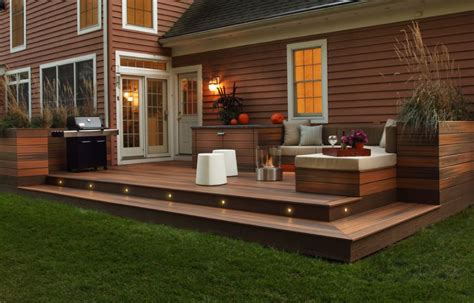modern backyard deck design ideas deck lighting ideas that bring out the beauty of the space