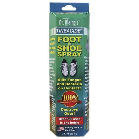 athletes foot shoe spray tineacide 174 antifungal foot shoe spray dr blaines